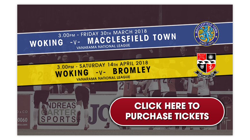 Purchase Woking Football Club match tickets online
