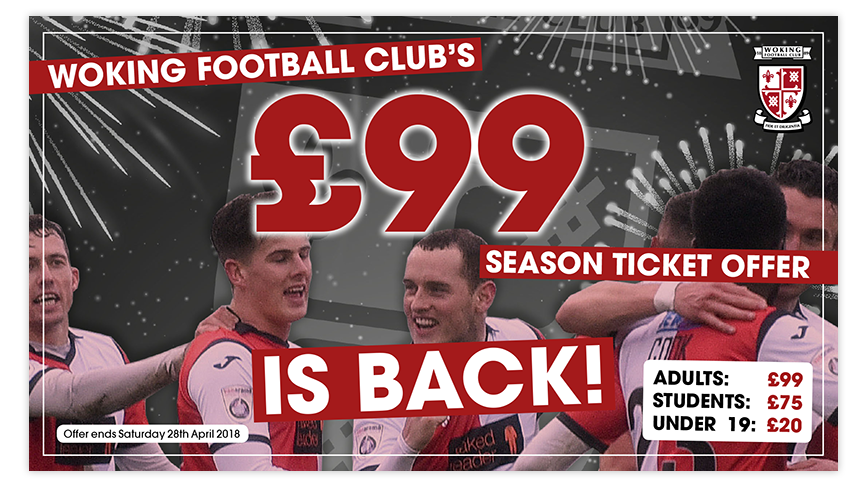 £99 Season Tickets are back!